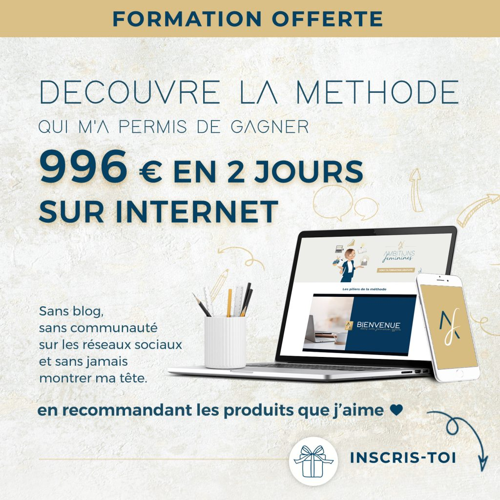 gagner 996 euros grace affiliation marketing